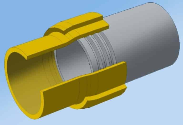 Технология соединения полиэтиленовых труб со стальными