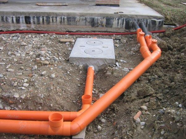 ружная канализация из пластиковых труб