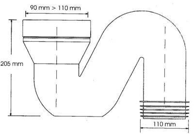 Схема фановой трубы