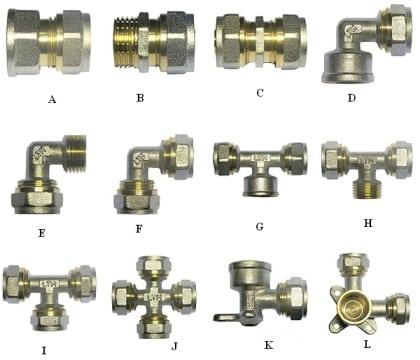 Различные формы соединительных элементов