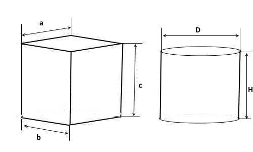 Кубический и круглый (цилиндрический) септик