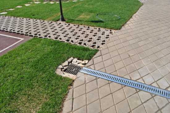 Пример реализации водоотвода, расположенного на поверхности