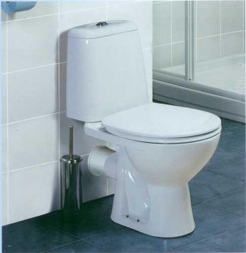 Пример подключения унитаза Vidima с нижней подачей воды