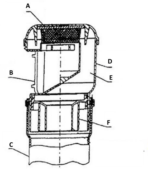 Конструкция вакуумной заслонки (упрощенная схема)