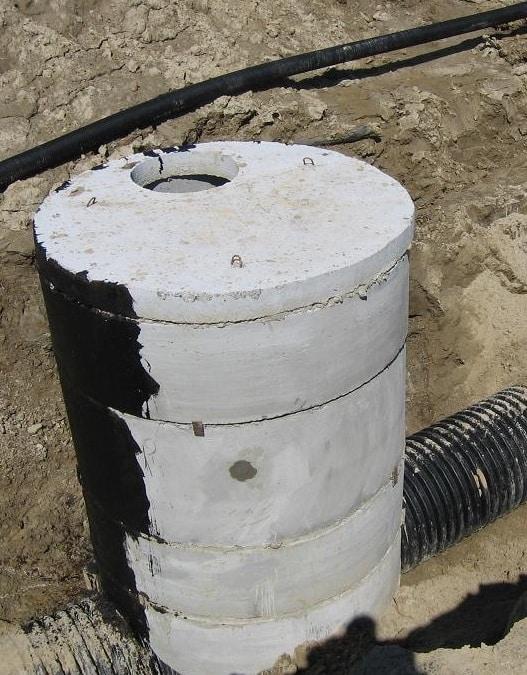 Обработка бетонных колец