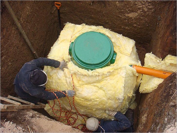 Утепление резервуара минеральной ватой