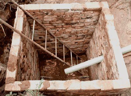 Выгребная яма без дна из кирпича
