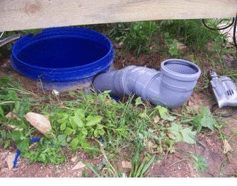 Вывод наземной трубы