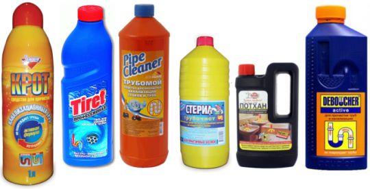 Профессиональные химические средства для удаления засоров в ванной