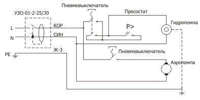 Схема подключения ванны с гидромассажем
