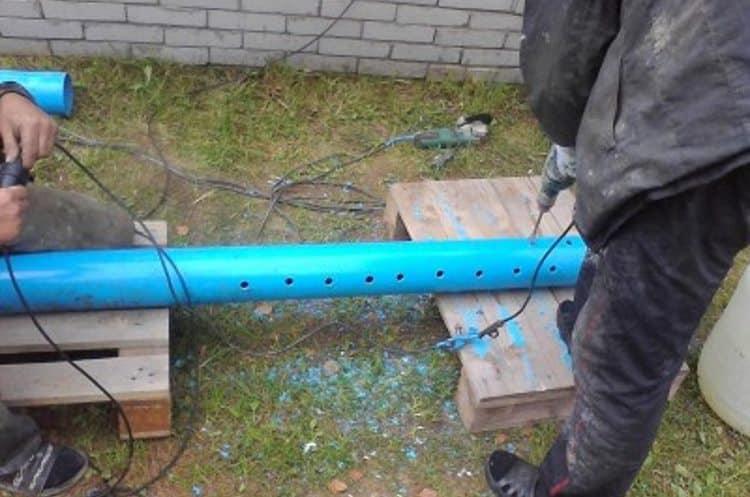 Процесс перфорирования обсадной трубы для скважины