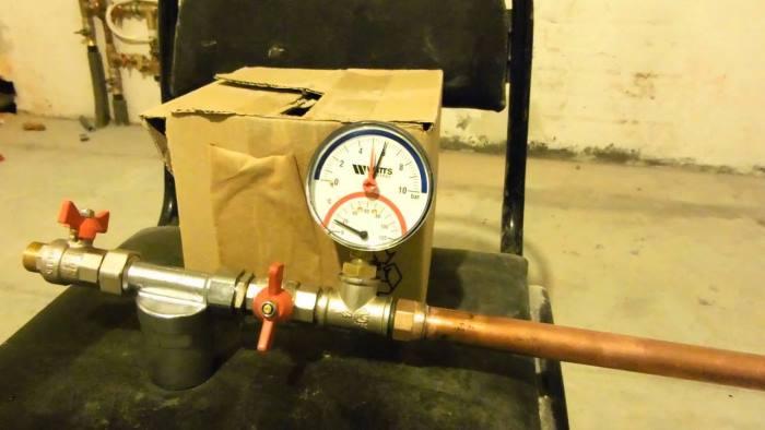датчик давления в системе отопления
