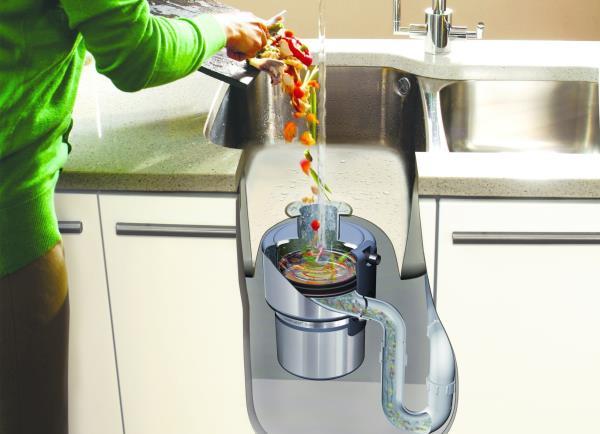 принцип работы измельчителя бытовых отходов для раковины