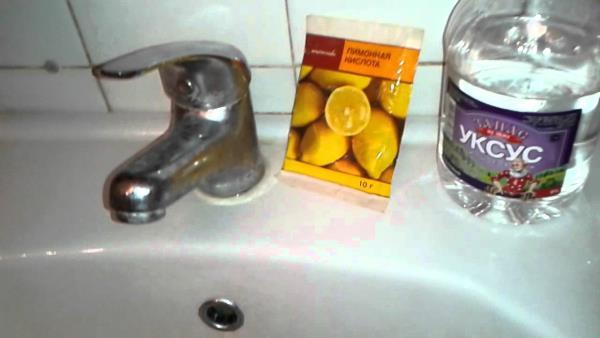 лимонная кислота для борьбы с известковым налетом