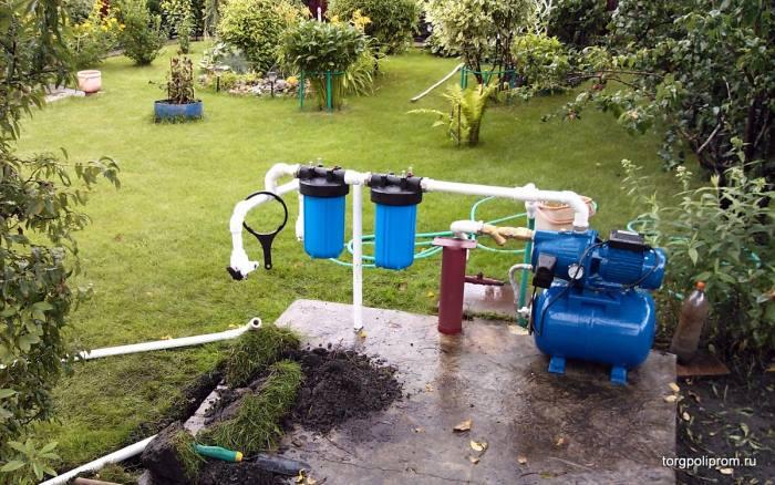 дачный водопровод от скважины