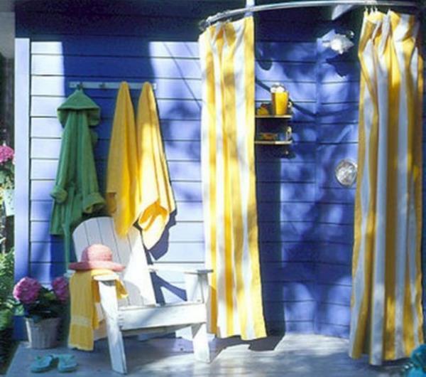 летний душ с подогревом как организовать