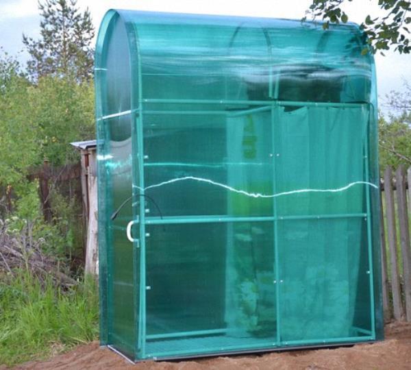 загородный летний душ с подогревом