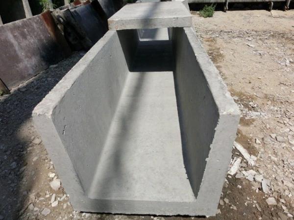 как выглядит водоотводный лоток из бетона