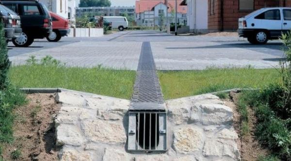 водоотводный лоток на участке