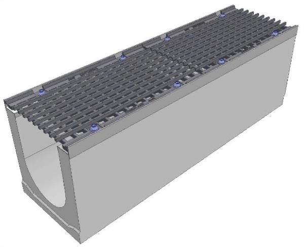 бетонный лоток водоотводный с решеткой