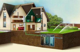 канализационные стоки частного дома