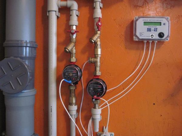 счетчик с термодатчиком установка