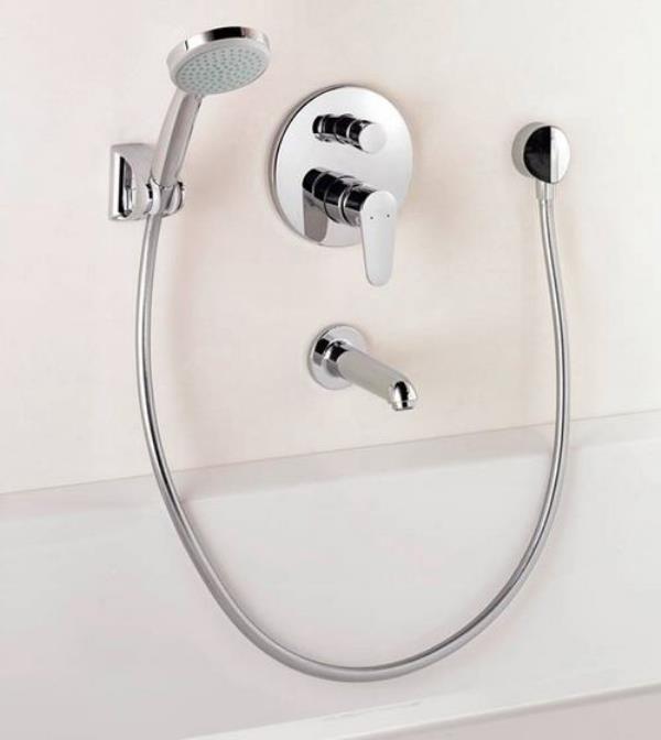 смеситель с душем скрытого типа