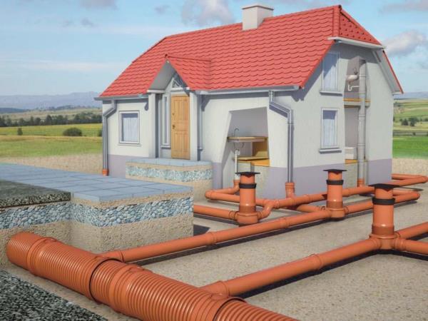 выпуски канализации частного дома