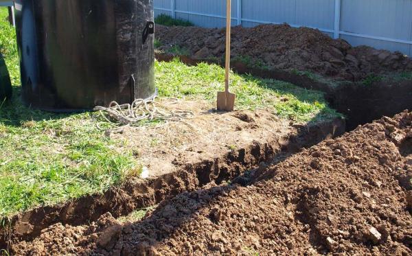 монтаж загородной канализации