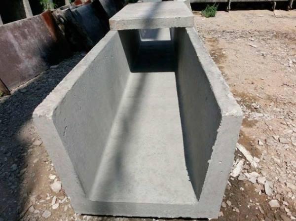 бетонные желоба дренажной системы