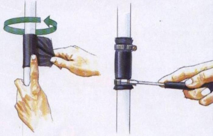 ремонт труб лентой