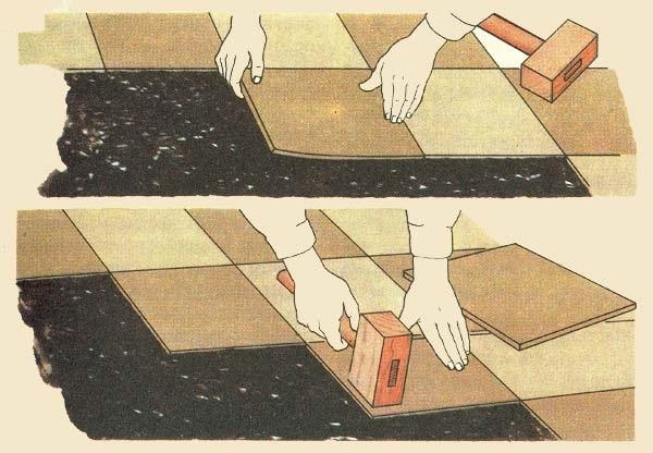 Прессовка ПВХ плитки