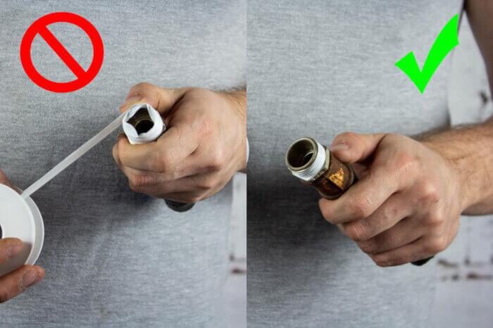 Правила наматывания фум-ленты