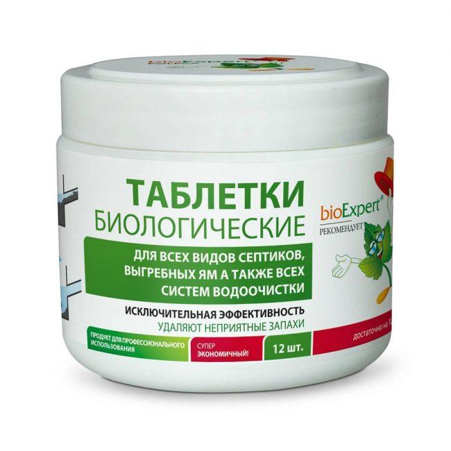 Биопрепараты для выгребных ям в виде таблеток